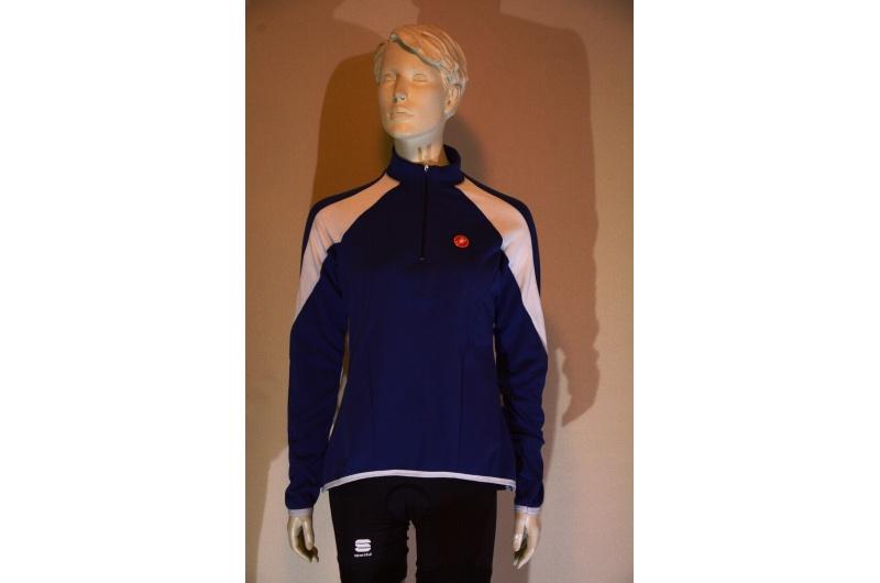 CASTELLI dres dlouhý rukáv MOMENTO JERSEY modrý/bílý