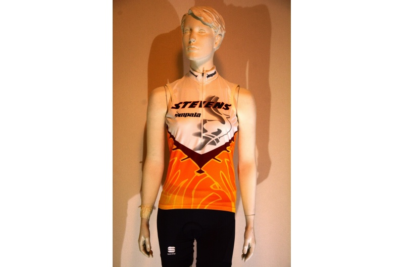 STEVENS dres bez rukávů IMPALA oranžová/bílá