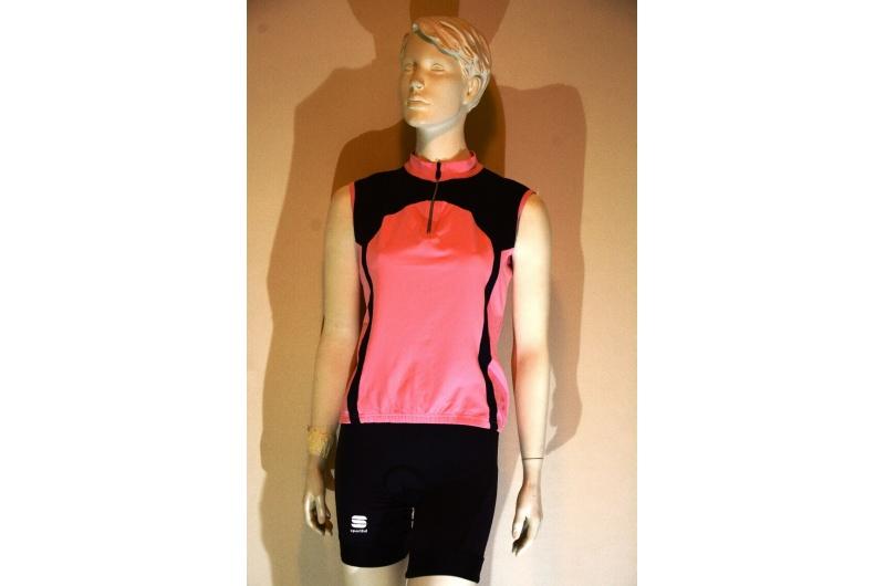 SPORTFUL dres bez rukávů FIORE růžová/černá