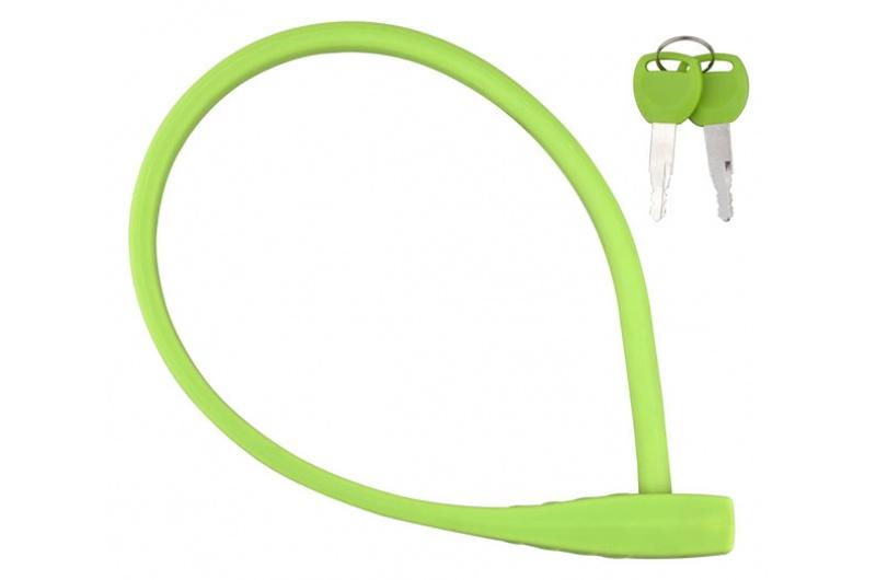 Zámek lankový PRO-T Plus M10 x 60cm Silicone zelený