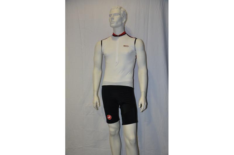 CASTELLI dres krátký bez rukávů SUPERLEGGERA bílá