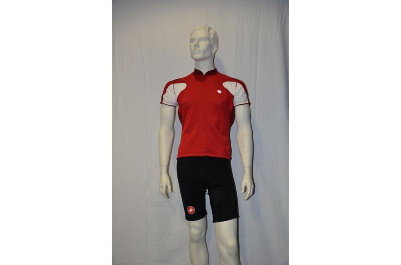 PEARL iZUMI dres krátký VERTEX červená/bílá