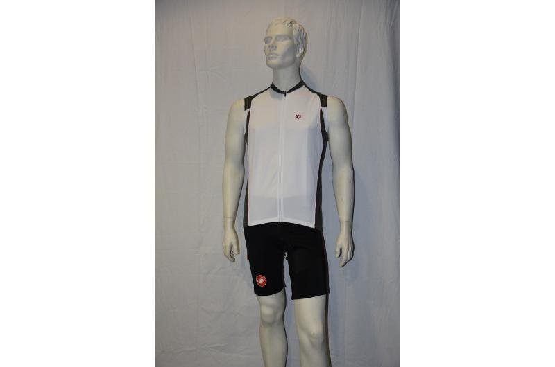 PEARL iZUMI dres krátký bez rukávů SLICE sleeveless bílá