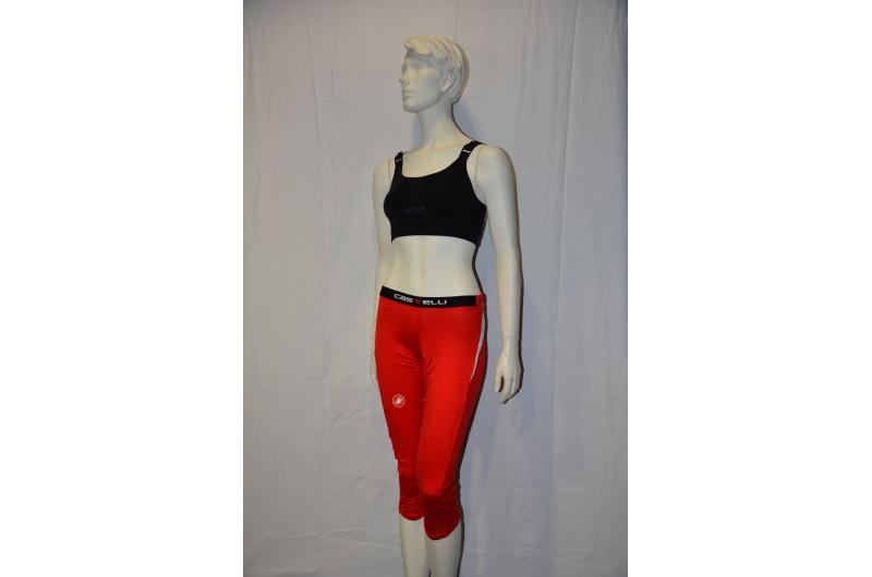 CASTELLI 3/4 kalhoty COCOON červená