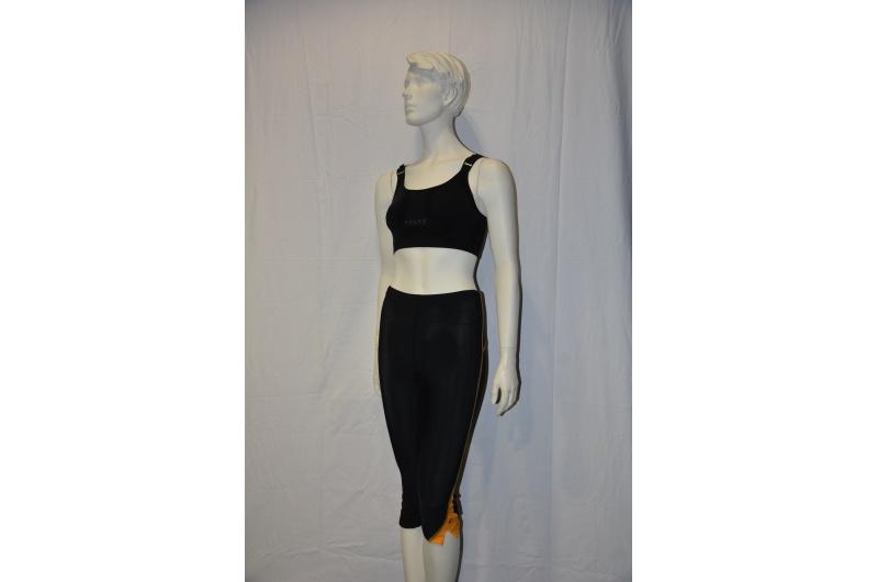 PEARL iZUMI 3/4 kalhoty SPLICE CHASE černá/žlutá