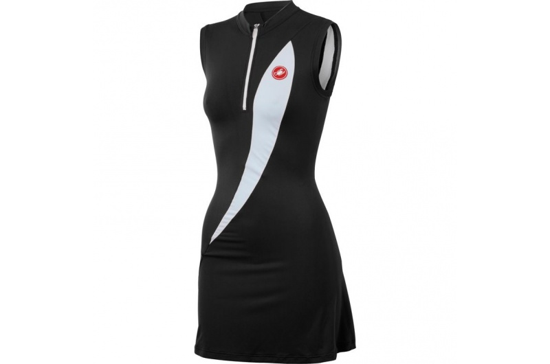 CASTELLI šaty Elegante dress černá/bílá