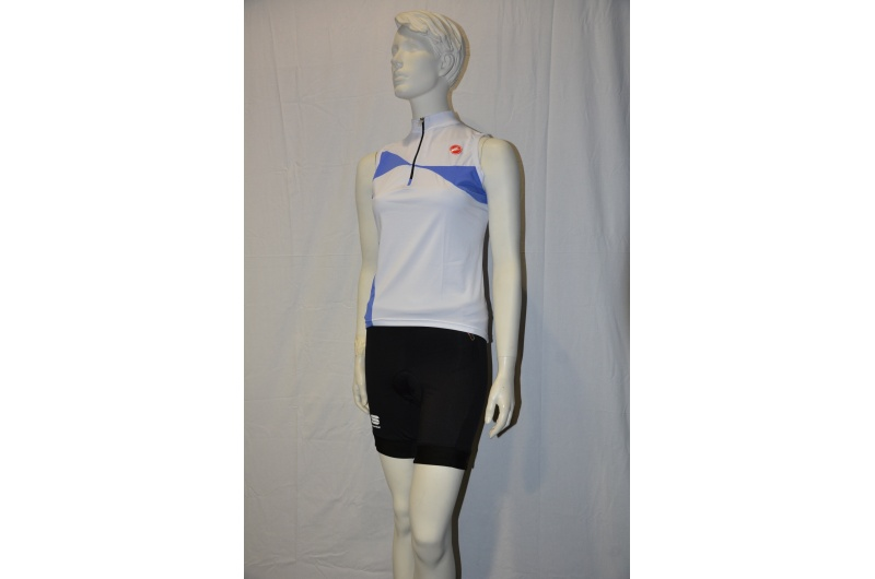 CASTELLI  dres bez rukávů ONDA SLEEVELESS bílá/modrá