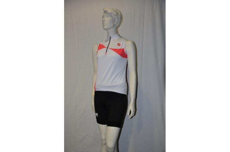CASTELLI  dres bez rukávů ONDA SLEEVELESS bílá/růžová