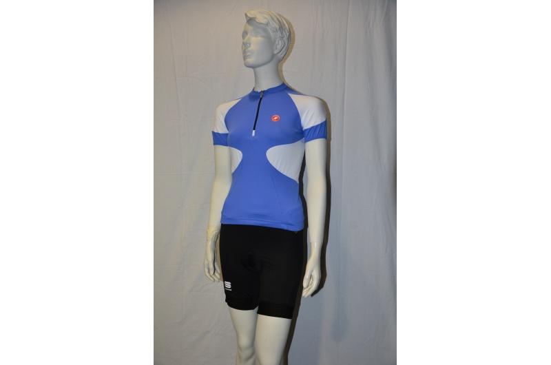 CASTELLI dres dámský krátký rukáv Fascino modrá/bílá