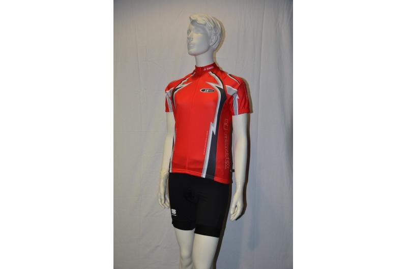 JEANTEX dres krátký rukáv LORENZO červená
