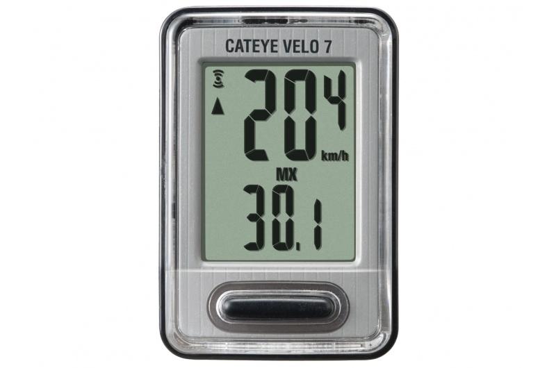 CATEYE Cyklopočítač CAT Velo 7 (VL520) černá/stříbrná