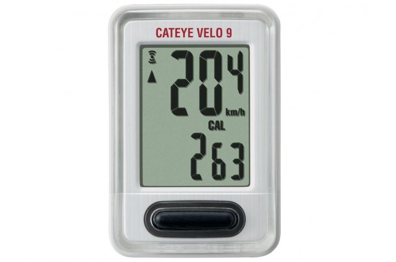 CATEYE Cyklopočítač CAT Velo 9 (VL820) - bílá