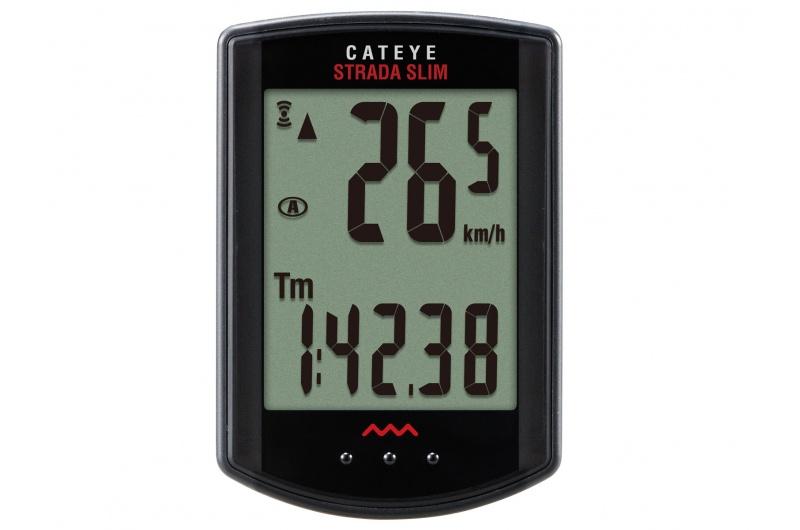 CATEYE Cyklopočítač CAT Strada Slim - road (RD310W) - černá