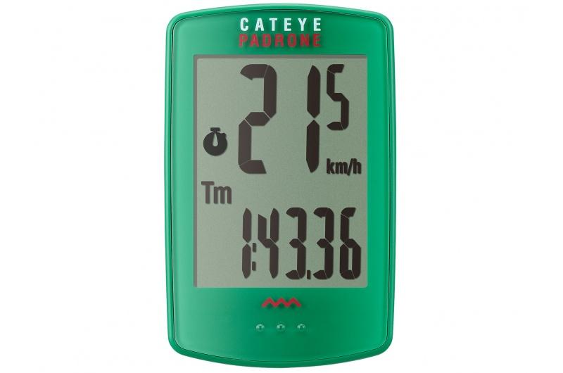 CATEYE Cyklopočítač CAT Padrone (PA100W) - zelená