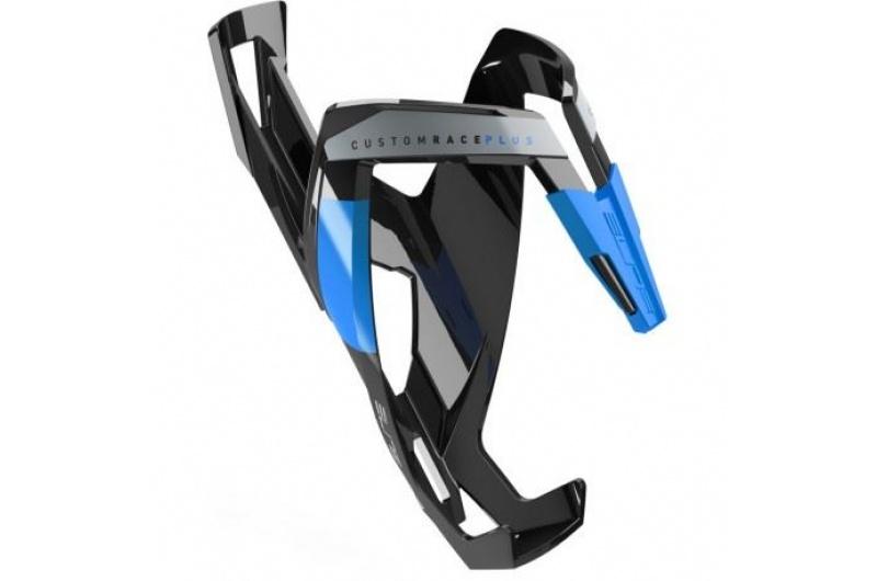 Elite košík custom race plus lesklý černý/modrý