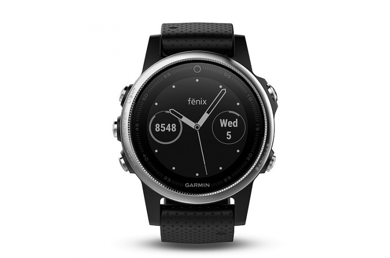 GARMIN fenix5S Silver, Black band