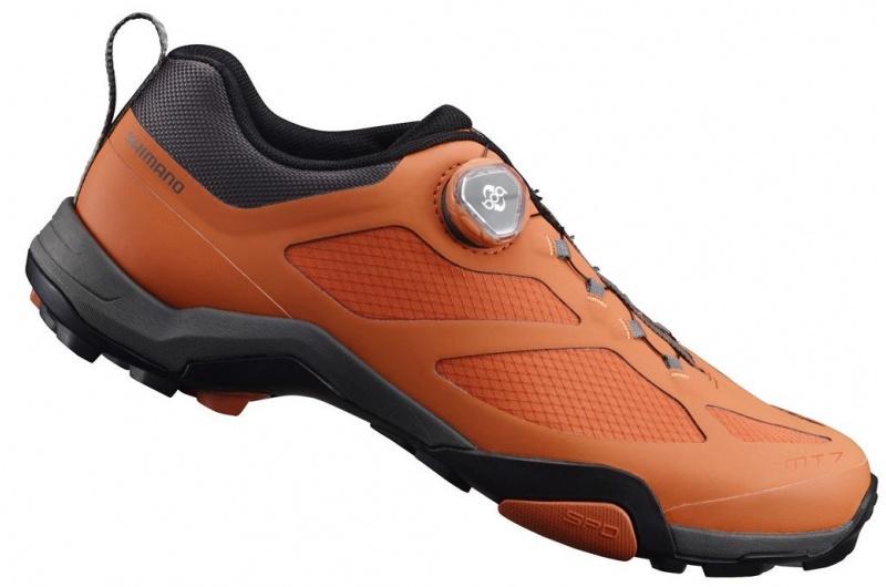 cyklistické MTB tretry SHIMANO SHMT700 oranžová