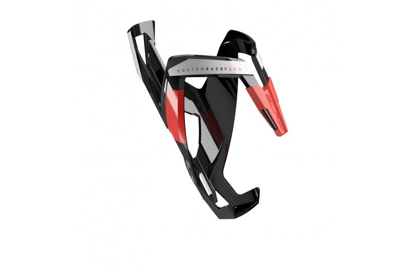 Elite košík custom race plus skin, leský černý/červený