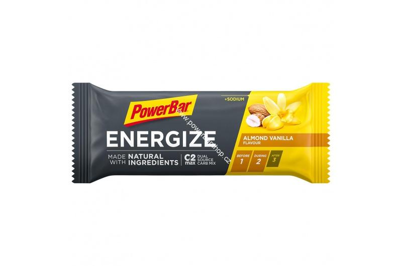 PowerBar Energize tyčinka - mandle/vanilka 55 g