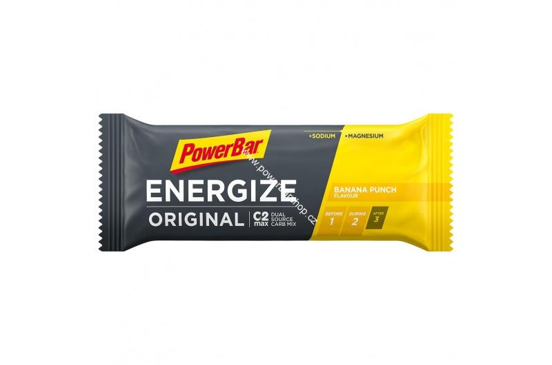 PowerBar Energize tyčinka - banánový punč 55 g