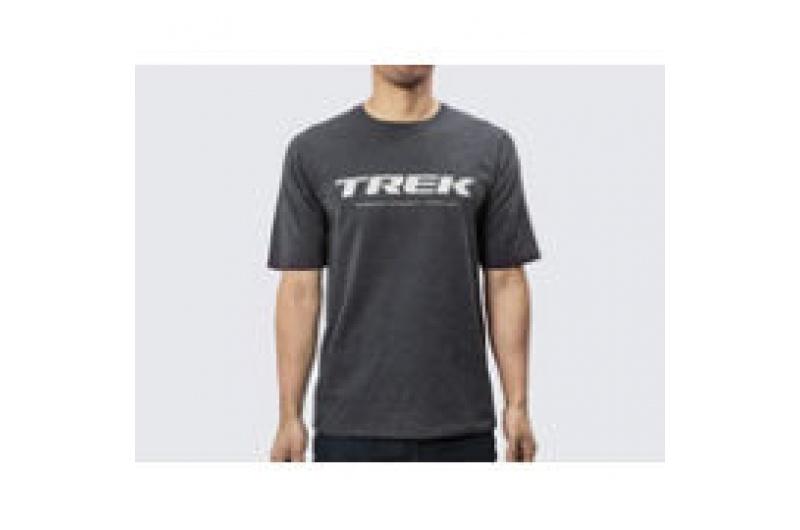 Tričko s logem Trek, velikost S, barva Charcoal Heather