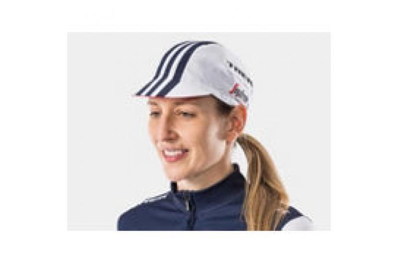 Cyklistická kšiltovka Santini Trek-Segafredo, jedna velikost, bílá
