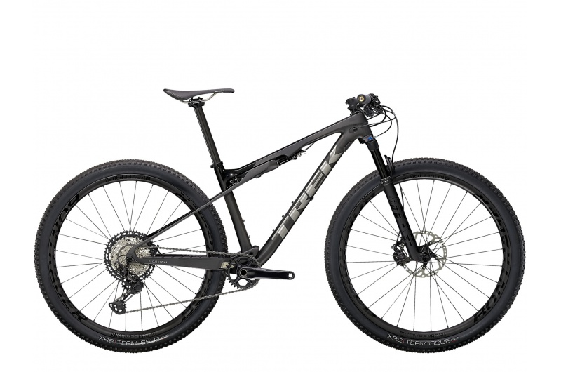TREK horské kolo Supercaliber 9.8 XT 2021 Matte Raw Carbon/Gloss Trek Black