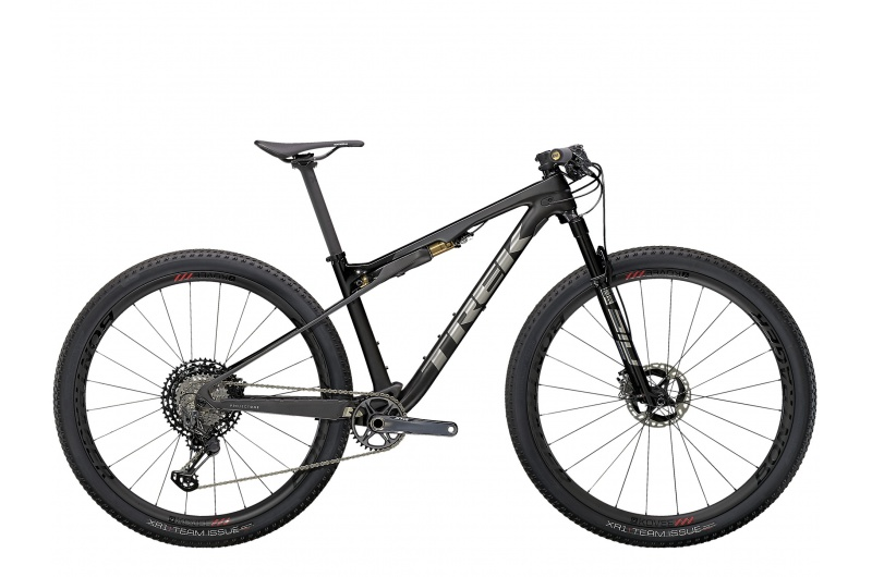 TREK horské kolo Supercaliber 9.9 XTR 2021 Matte Raw Carbon/Gloss Trek Black