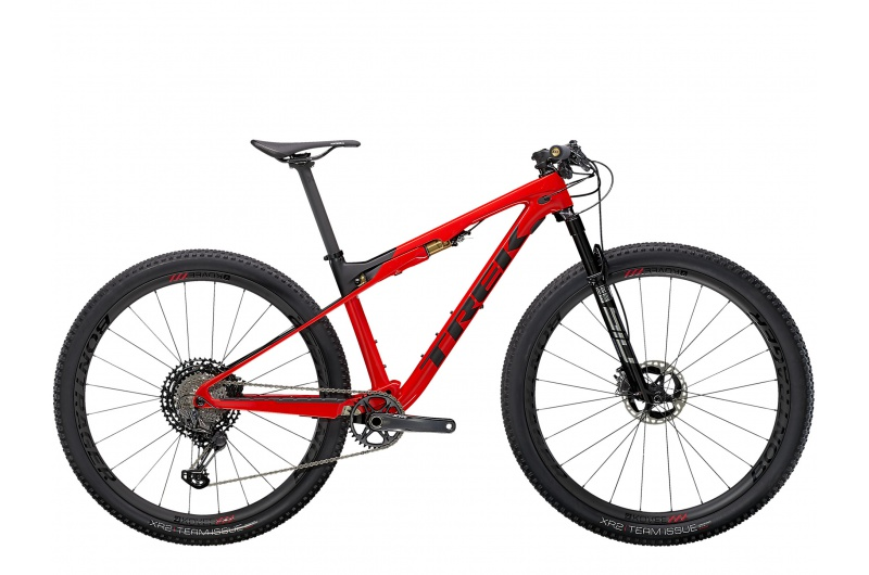 TREK horské kolo Supercaliber 9.9 XTR 2021 Gloss Radioactive Red/Matte Black