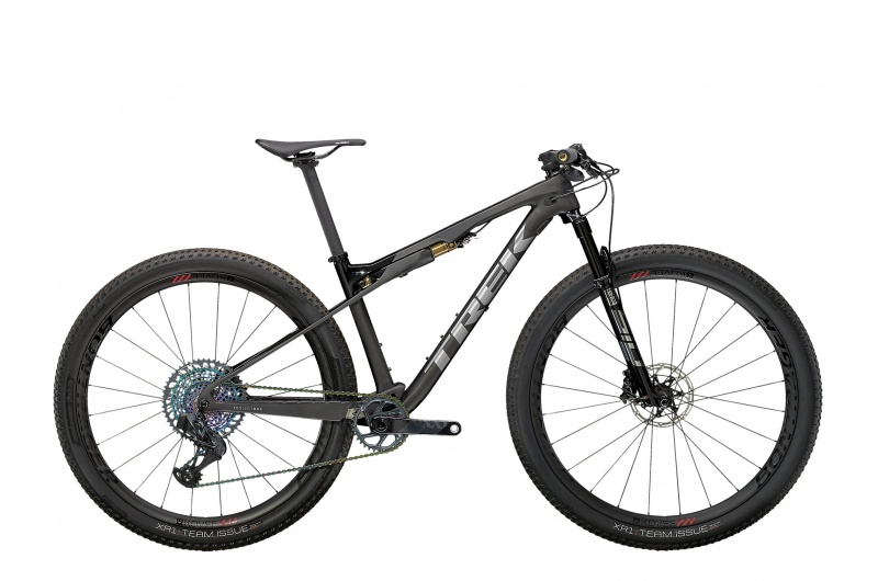 TREK horské kolo Supercaliber 9.9 XX1 AXS 2021 Matte Raw Carbon/Gloss Trek Black