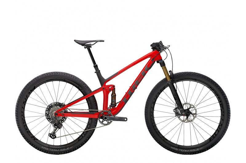 TREK horské kolo Top Fuel 9.9 XTR 2021 Gloss Red/Matte Carbon Smoke