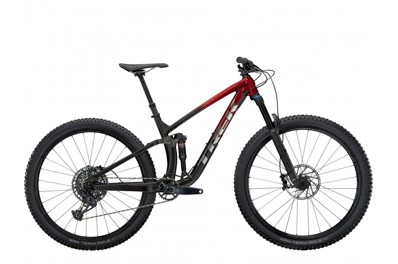 TREK horské kolo Fuel EX 7 2021 Rage Red to Dnister Black Fade