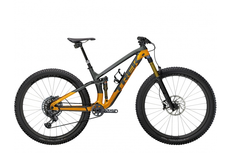 TREK horské kolo Fuel EX 9.9 X01 AXS 2021 Lithium Grey/Factory Orange