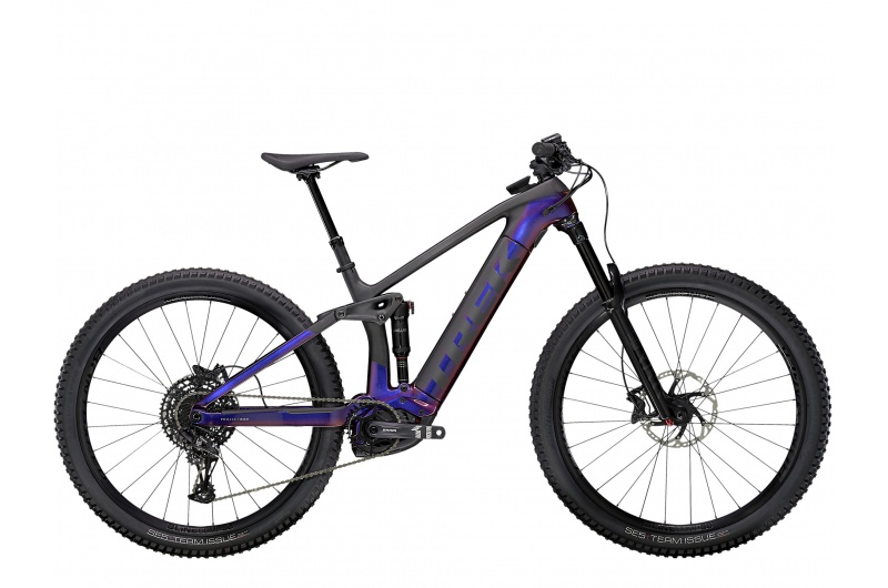TREK elektrické kolo Rail 9.7 NX 2021 Gloss Purple Phaze/Matte Raw Carbon