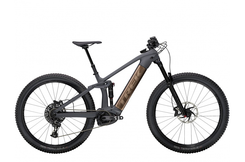 TREK elektrické kolo Rail 9.7 NX 2021 Solid Charcoal to Root Beer Ano Decal
