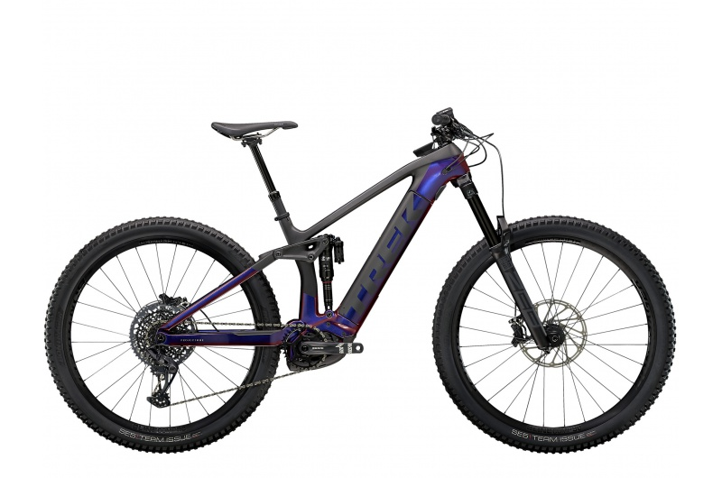 TREK elektrické kolo Rail 9.8 GX 2021 Gloss Purple Phaze/Matte Raw Carbon