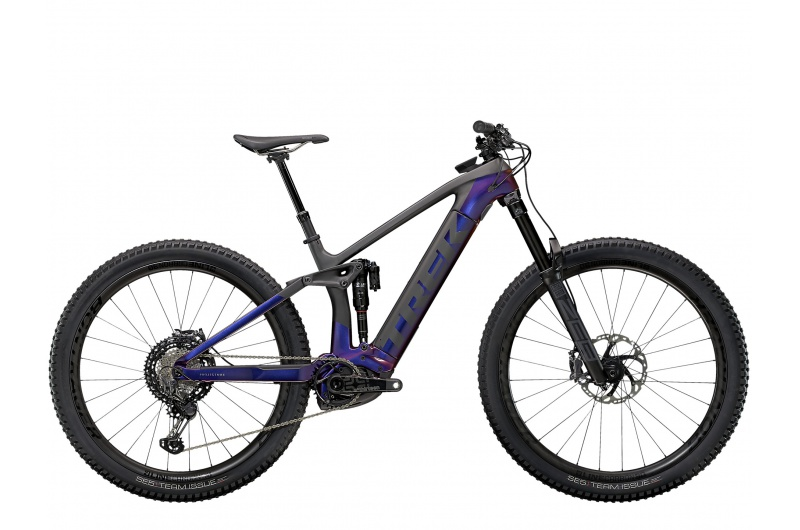 TREK elektrické kolo Rail 9.9 XTR 2021 Gloss Purple Phaze/Matte Raw Carbon