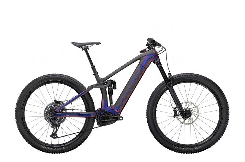 TREK elektrické kolo Rail 9.9 XTR 2021 Gloss Purple Phaze/Matte Raw Carbon