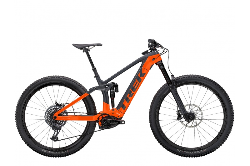 TREK elektrické kolo Rail 9.9 XTR 2021 Solid Charcoal/Radioactive Orange