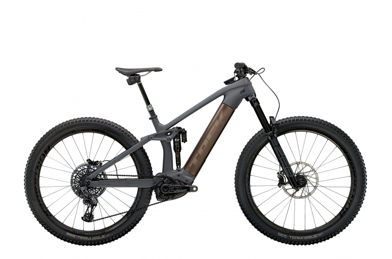 TREK elektrické kolo Rail 9.9 X01 AXS 2021 Solid Charcoal to Root Beer Ano Decal