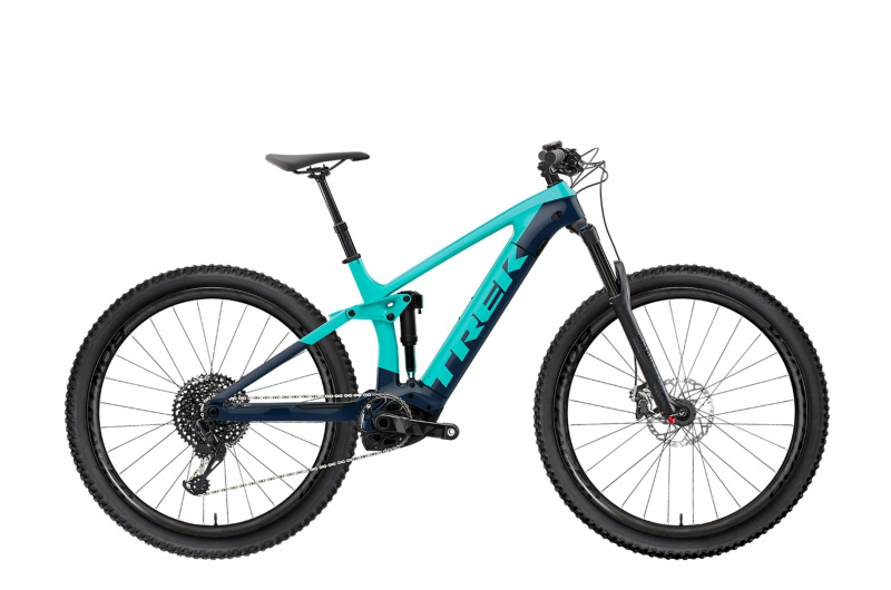TREK elektrické kolo Rail 7 SLX/XT 2021 Miami Green/Nautical Navy