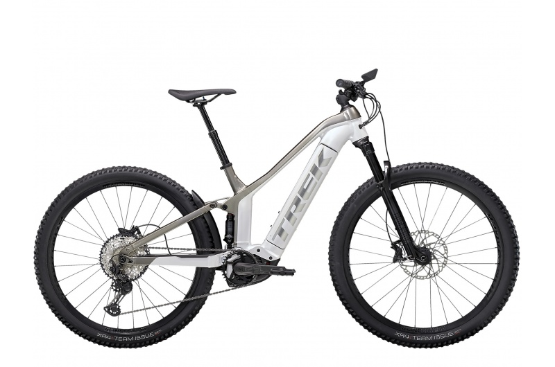 TREK elektrické kolo Powerfly FS 7 2021 Crystal White/Metallic Gunmetal