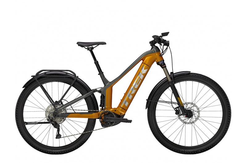 TREK elektrické kolo Powerfly FS 4 Equipped 2021 Factory Orange/Lithium Grey