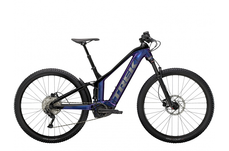 TREK elektrické kolo Powerfly FS 4 500W 2021 Purple Flip/Trek Black