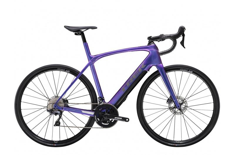 TREK silniční elektro kolo Domane+ LT 2021 Gloss Purple Flip