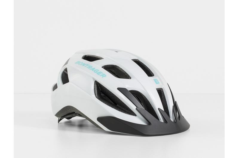 Cyklistická přilba Bontrager Solstice bílá/zelená opálová; / Lesklý S/M