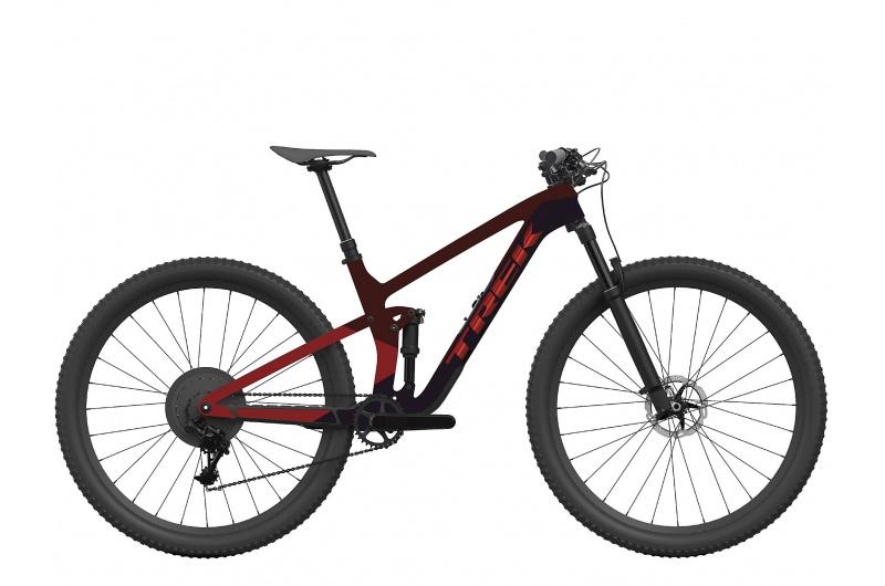 TREK elektrické kolo Top Fuel 9.8 GX 2022 Marigold to Red to Purple Abyss Fade