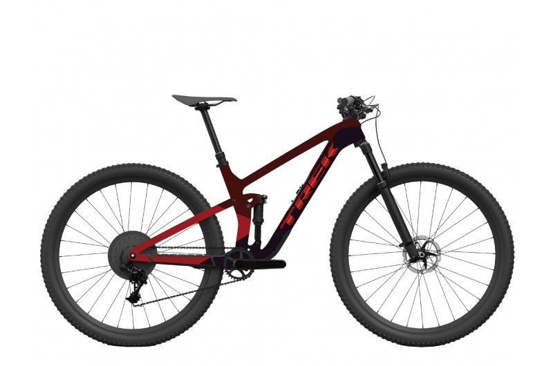 TREK elektrické kolo Top Fuel 9.8 XT 2022 Carbon Red Smoke/Trek Black
