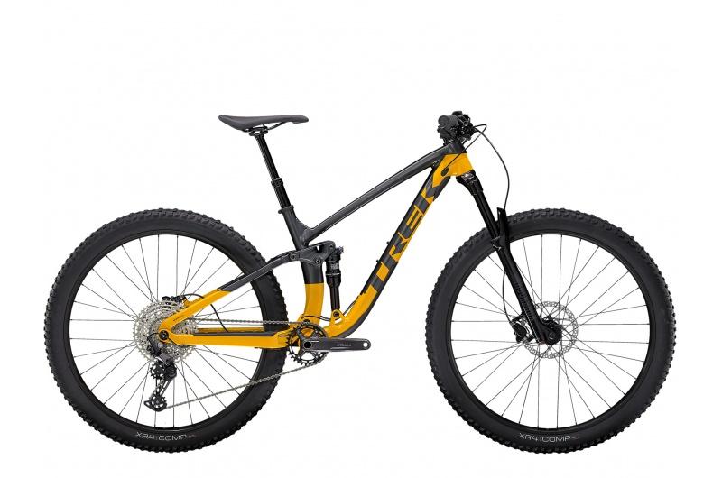 TREK elektrické kolo Fuel EX 5 2022 Lithium Grey/Marigold
